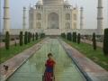 Taj Mahal. Perro. Yo