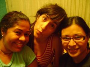 Silvana, Gemma y yo.