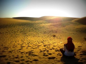 Desierto. Soledad. India y yo.