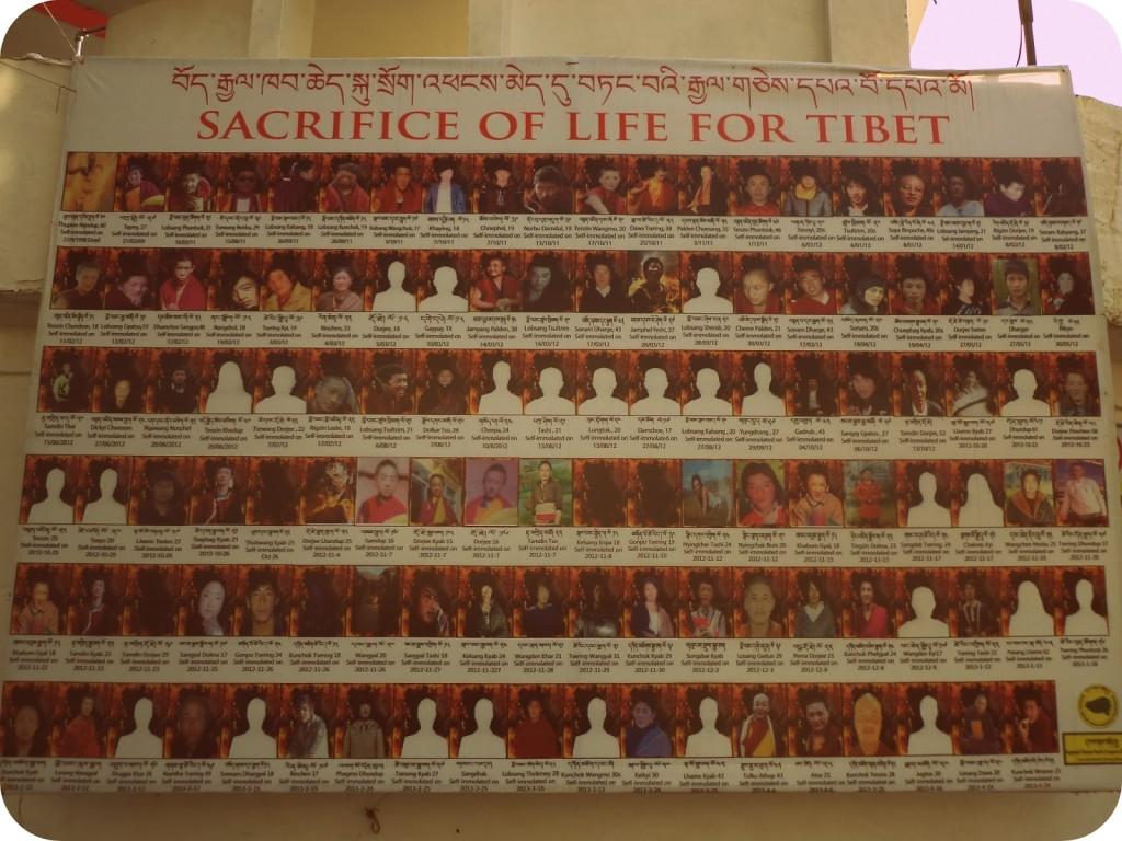 Tibetanos que se han inmolado por la libertad del Tíbet.