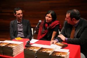 En la presentación del libro.
