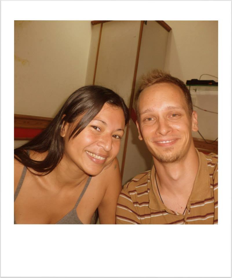 Con Manuel. Fue mi host en Austria y de casualidad nos volvimos a encontrar en Delhi, cuando yo estaba sola y enferma en un hotel.