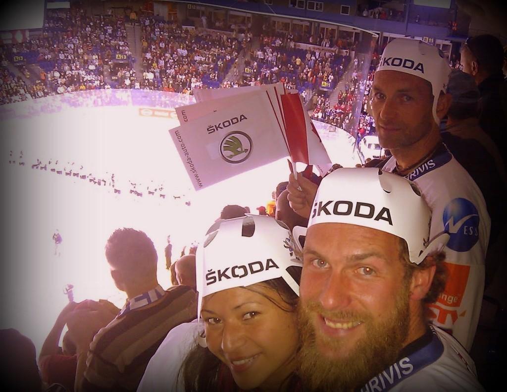 Tomas y yo en el Mundial de Hockey. Kosice, Eslovaquia.