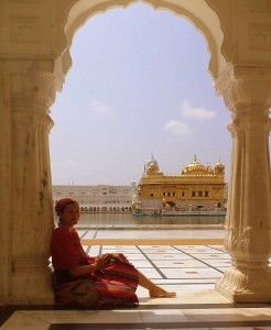 En el Golden Temple. Amritsar.