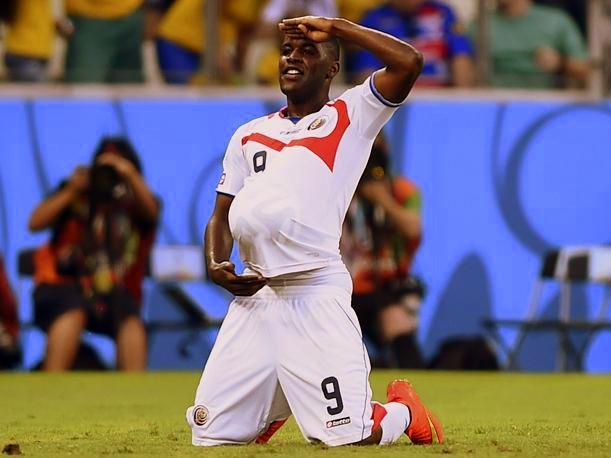 ¡Salve, oh, Joel Campbell! Los compatriotas que te agradecen haber ayudado a poner a Costa Rica en el mapa te saludamos.