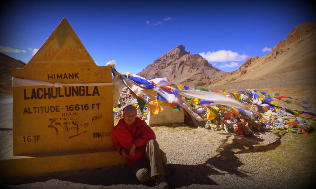 Yo en los Himalayas, en la región de Cachemira, India, 15 años después de la Ruta.