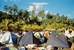 Campamento en Venezuela. Ruta Quetzal 1998.