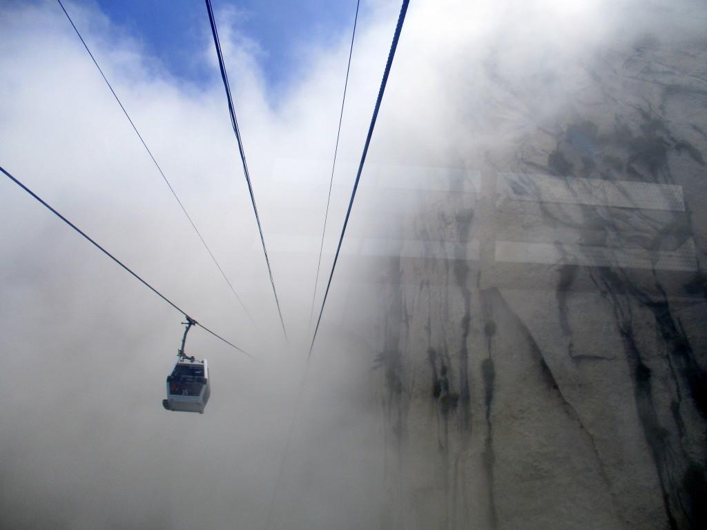 Y, luego de 20 minutos, llegamos al cielo. Monte HuaShan.