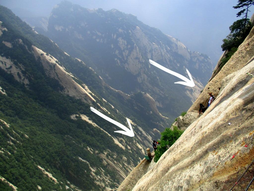 Y de esto (las flechas señalan a la gente subiendo y bajando).