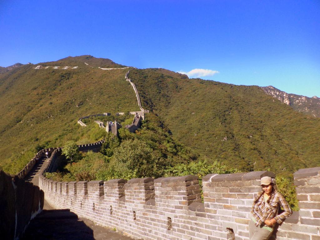 En un muro que no necesita presentación. Mutianyu, China.