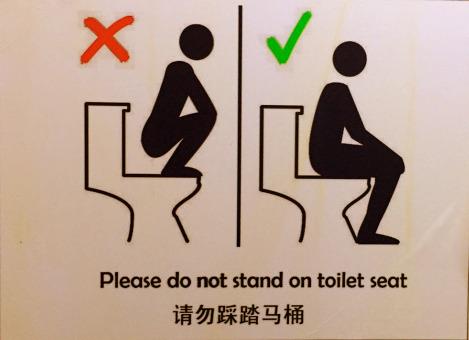Instrucciones baño China