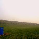 Baño en el medio de la nada... Bueno, es que en Mongolia prácticamente TODO está en medio de la NADA. :P