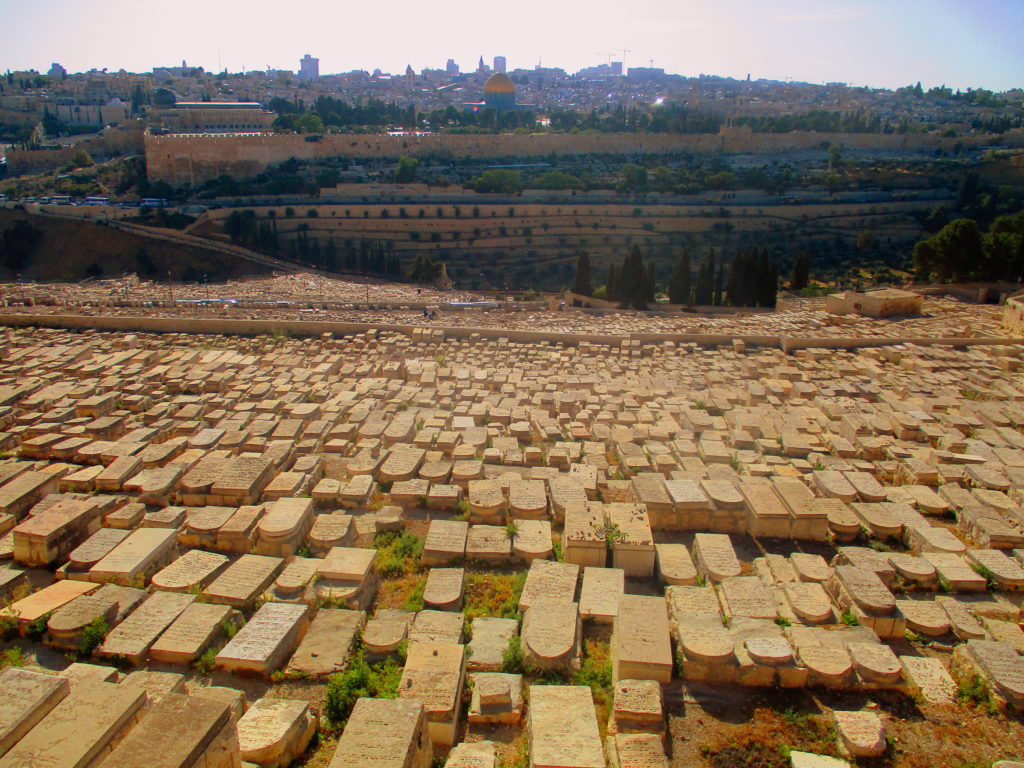 Cementerio judío Jerusalén Lugares de la Biblia Hoy