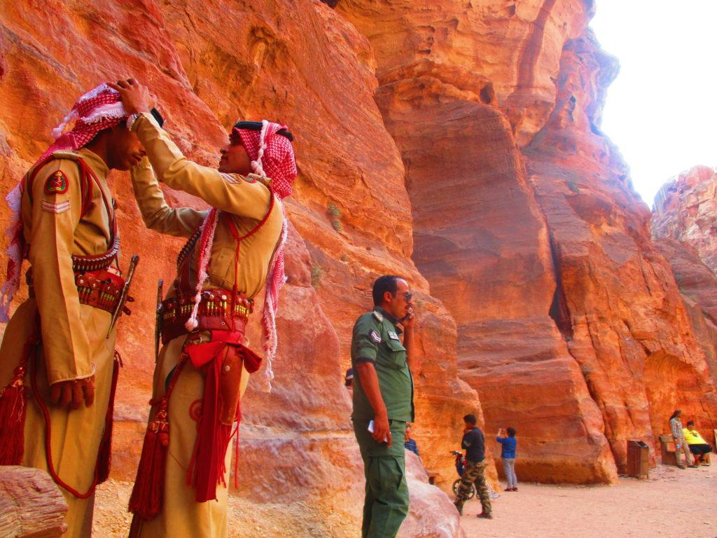 Guardias Jordania Petra