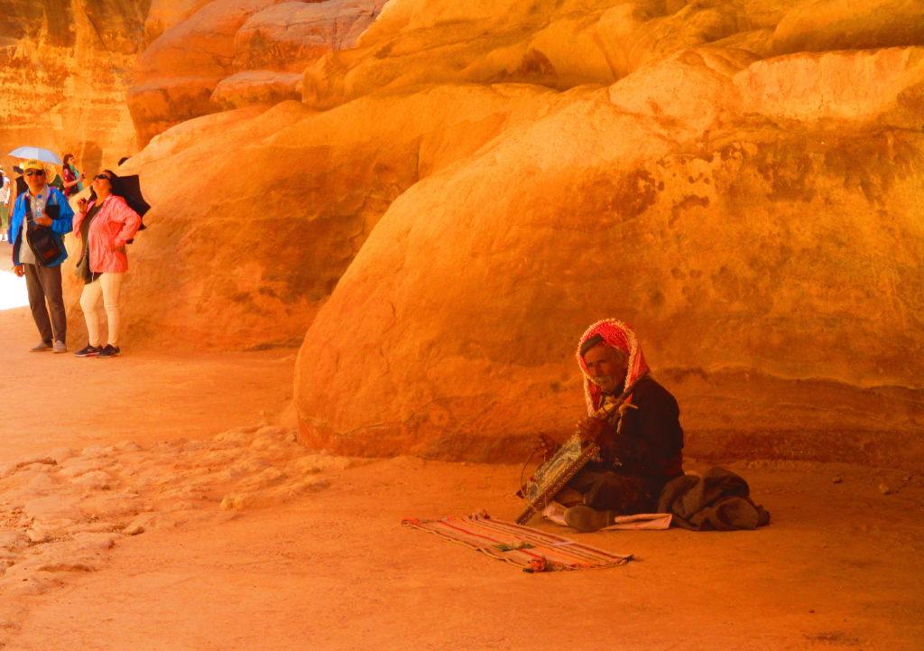 Músico beduino Petra